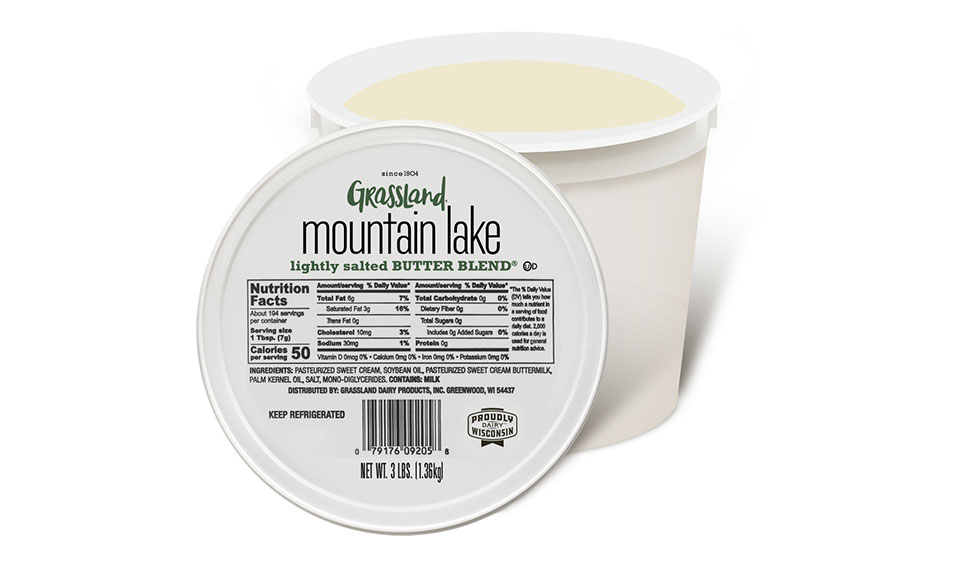 Grassland Mountain Lake Lightly Salted Butter Blend
